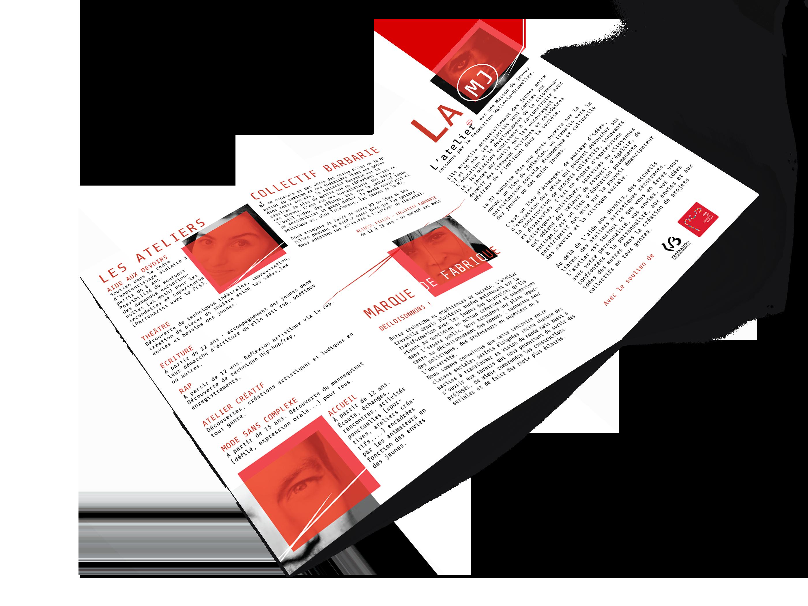 Brochure informative (verso) - Maison de jeunes L'atelier